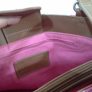 Relic Bags - Relic womens handbag Pink green tan stripes